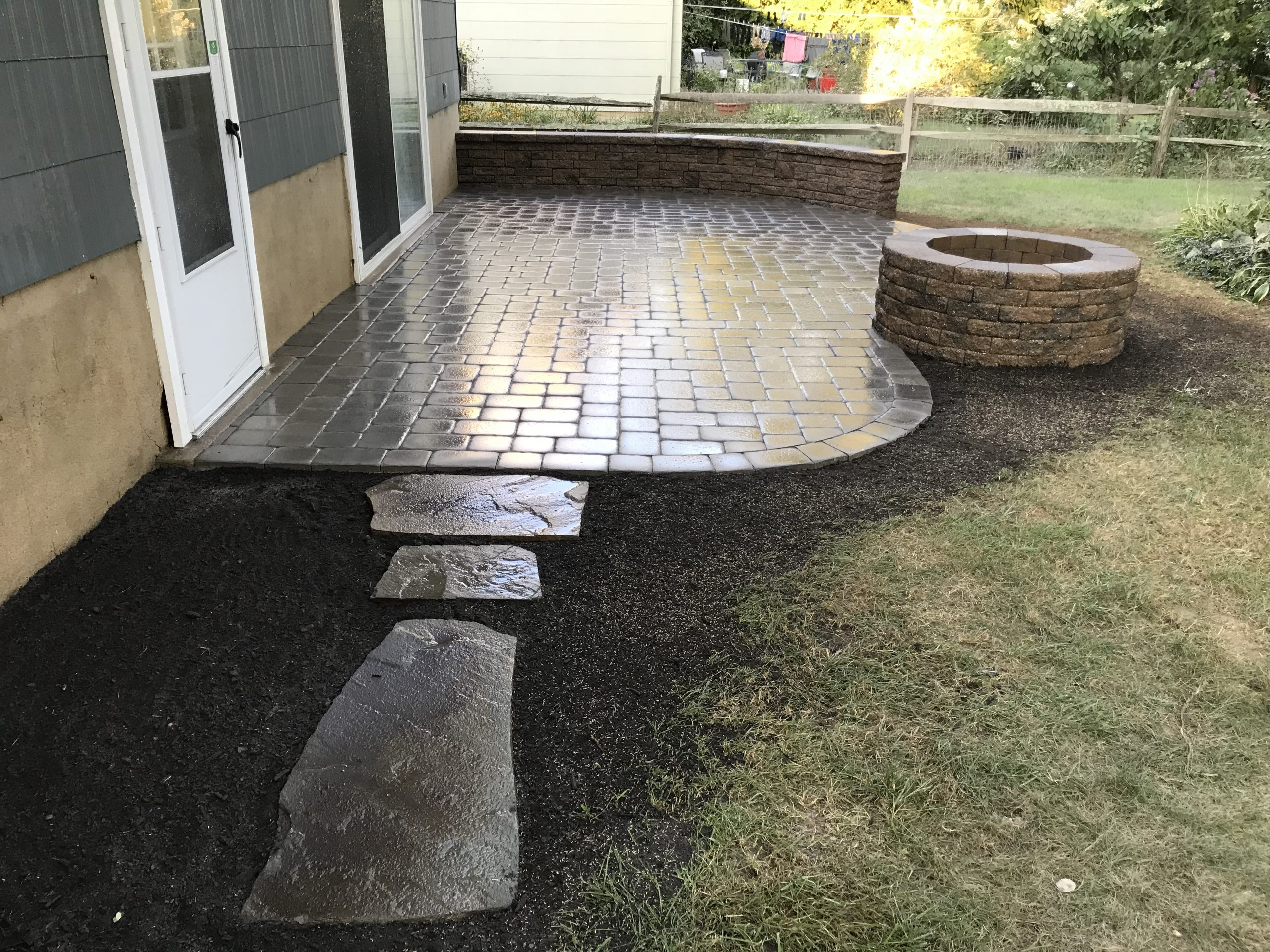 Fire Pit and Hardscaping in Cherry Hill, New Jersey