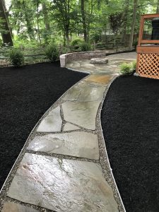 new backyard landscaping in Moorestown
